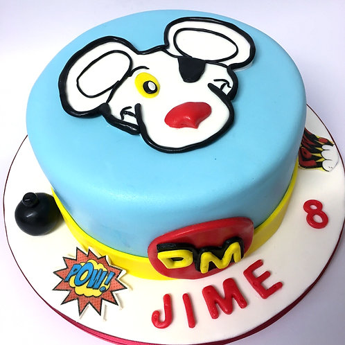 Danger Mouse Fondant Sugarpaste Cake 6'' 6-12 ppl