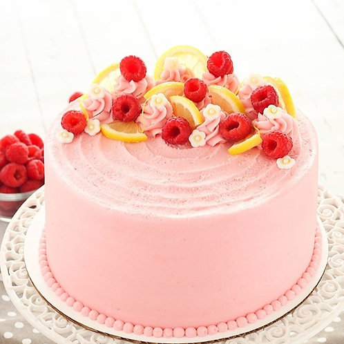 Pink Strawberry/Raspberry Lemonade Cake 6'' 6-10ppl