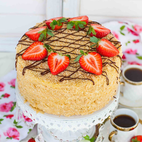 Napoleon Russian Mille Feuille Cake 6'' 6-10ppl