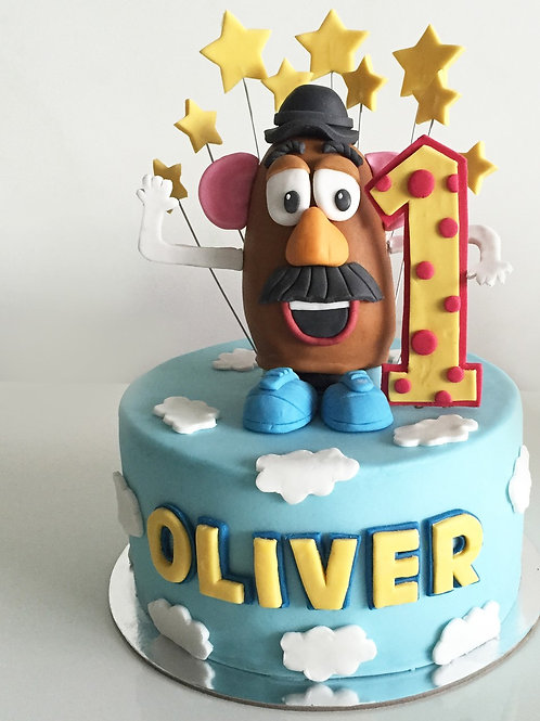 Potato Head Children Birthday Cake Fondant 6'' 6-12 ppl