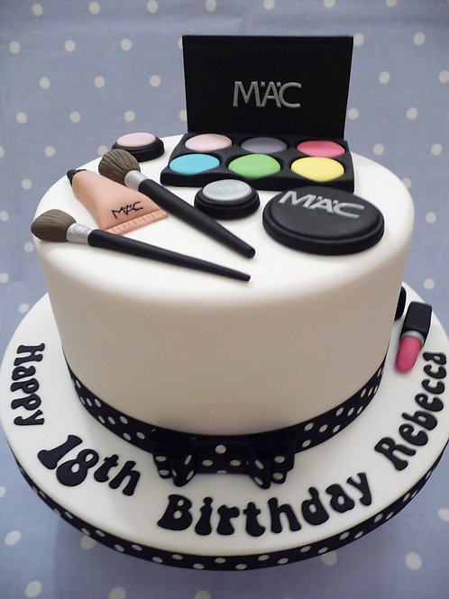 MAC Make-up Fondant Sugarpaste Cake 6'' 6-12 ppl