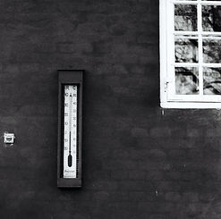 grayscale-photography-of-thermometer-on-