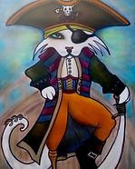 pirate cat painting