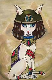 cleocatra cat painting