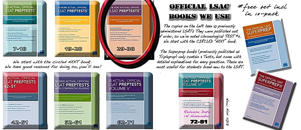 Official LSAT Books OzPrep uses