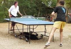 Partie de ping-pong sur le Domaine
