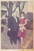 Donna with her father, Red