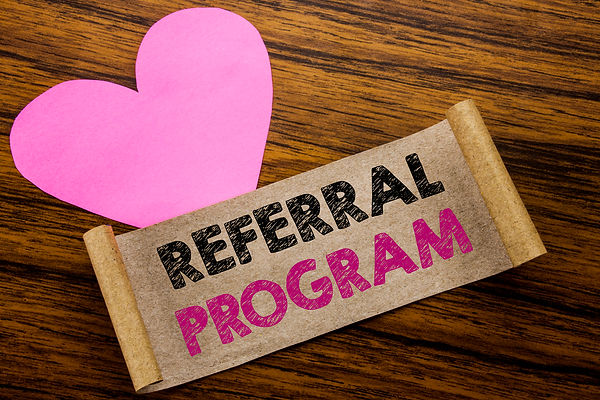 Writing text showing Referral Program. B