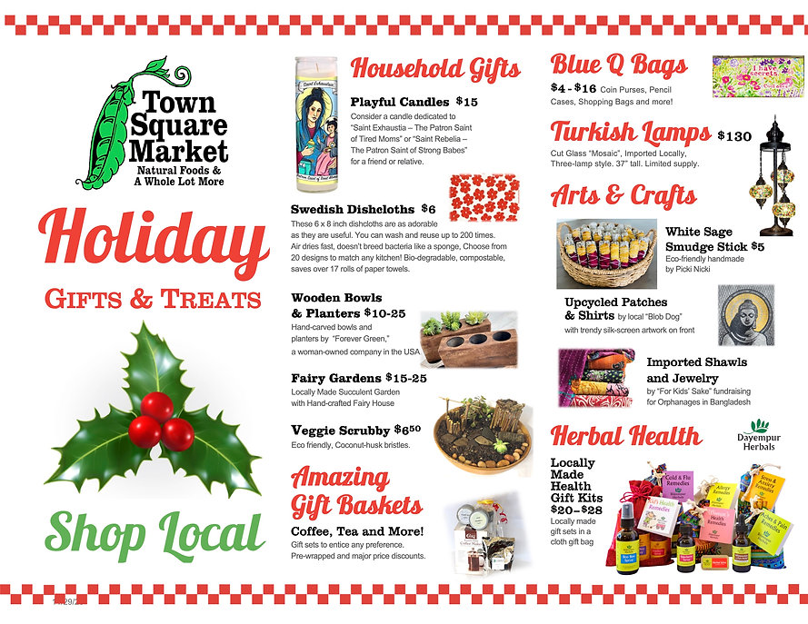 TSM Holiday Gift Offerings Brochure 2020