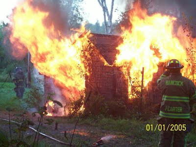 Another Fully Engulfed Training Burn