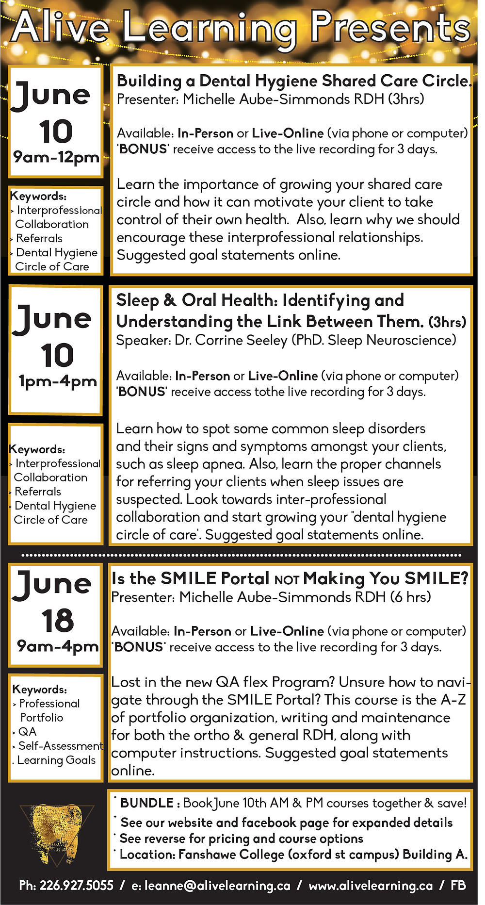 Alive Learning Spring Courses
