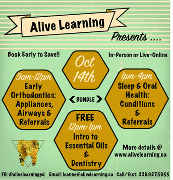 Oct 14th Course Line-Up! Catch the 'early-bird' pricing.
