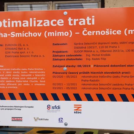 Optimalizace trati Praha Smíchov - Černočice
