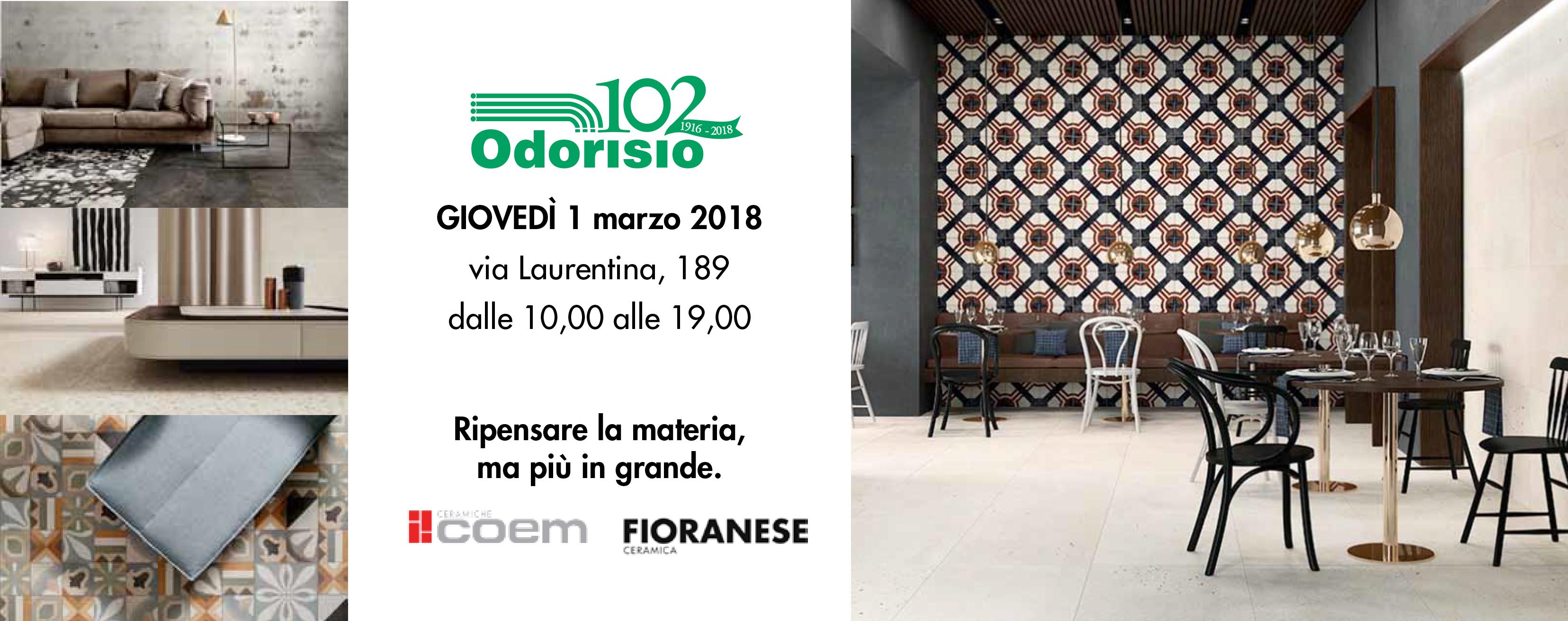 Odorisio Ceramiche Via Laurentina.I Giovedi Di Odorisio Roma Progetta Promozione Architetti Roma
