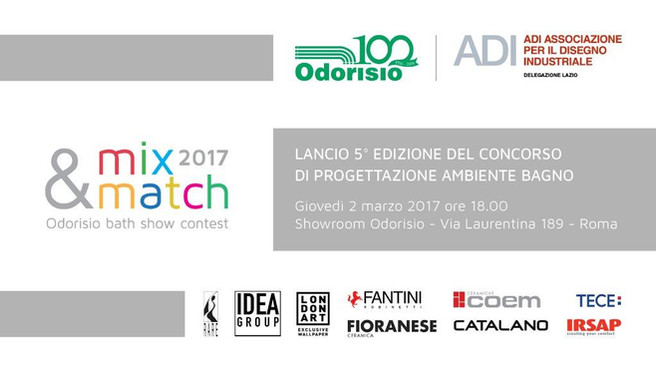 concorso a premi: odorisio mix & match 2017 | roma progetta ... - Odorisio Arredo Bagno Roma