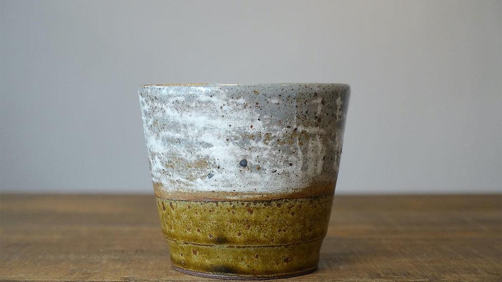 オリジナル陶器フリーカップ(飴釉 刷毛目)