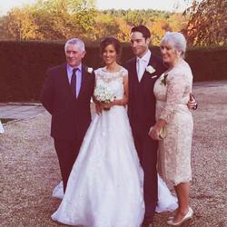 Stunning mother of the bride, Lorraine in a bespoke #angelinesloan original