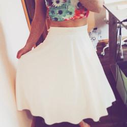 Simple #circle #skirt with #lace #trim waistline! Hello #sunshine and #spring #handmade #fashion #ir