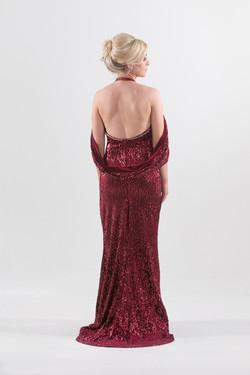 Back View: Bespoke Formal Dress