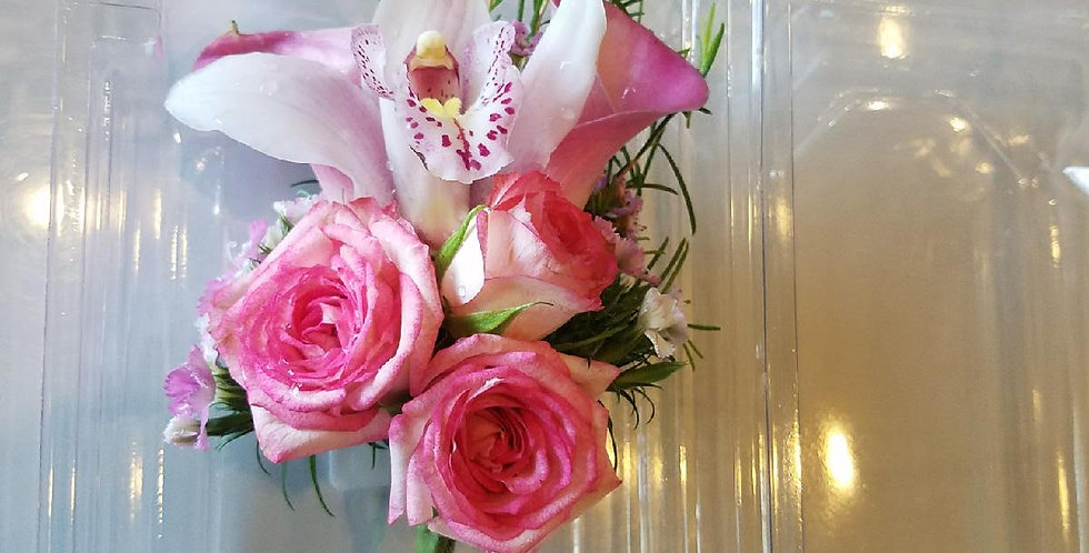 Pink Lily and Roses