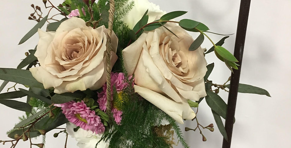 Cream Roses with Accent Flowers