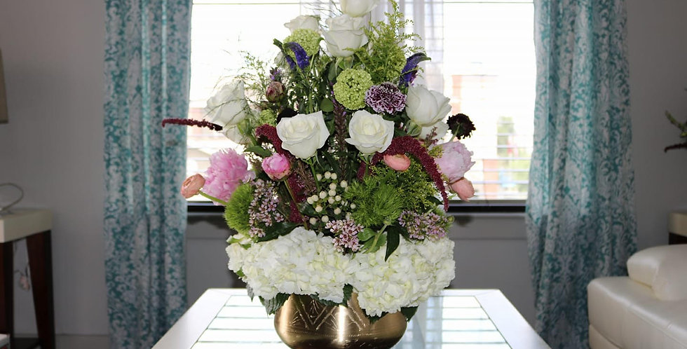 White Hydrangeas with Accent Flowers