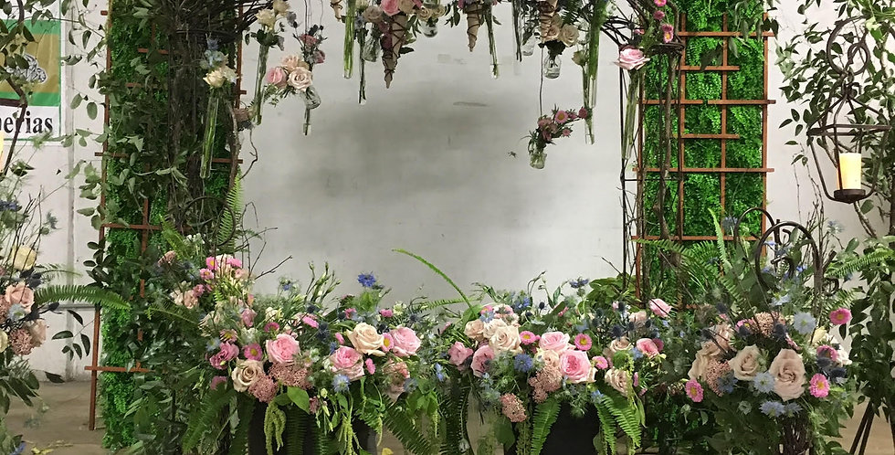 Garden Roses with Greenery