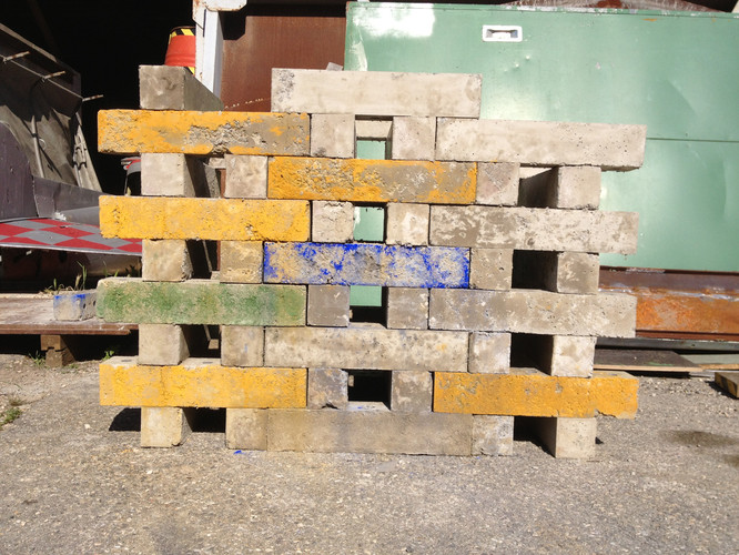 Antonio Scarponi / Conceptual Devices, Brick of Marseilles, 2013. Prototype in scale 1:1. Bricks prototype.