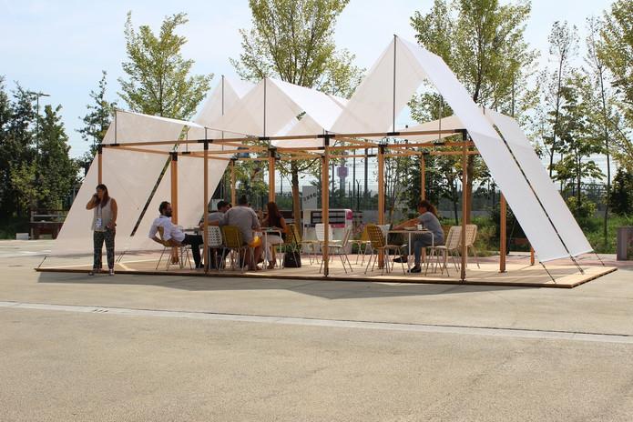Antonio Scarponi / Conceptual Devices, T(h)UN, 2015. EXPO 2015, Milano, installation. Photo, Filippo Romano.