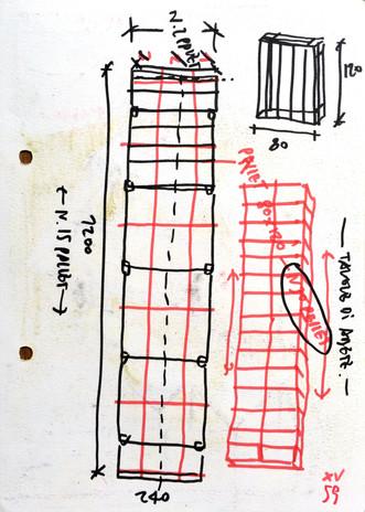 Antonio Scarponi / Conceptual Devices, T(h)UN, 2015. Sketch, indian ink markers, wax colors on Fabriano paper.