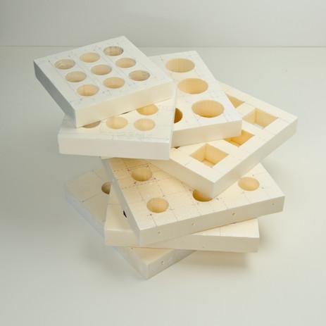 Antonio Scarponi / Conceptual Devices, with Marco Lampugnani, RIKEA's tiles foam prototypes, 2008.