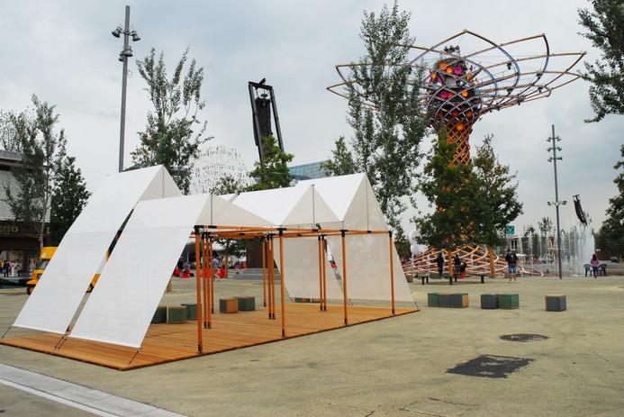 Antonio Scarponi / Conceptual Devices, T(h)UN, 2015. EXPO 2015, Milano, installation. Photo, Roberto Deluca.