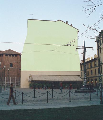 Antonio Scarponi / Concepual Devices, with: Antonio De Luca, Stefano Massa, Federico Pedrini, Dreaming Wall, Installation, Milano, Italy, 2004.