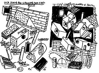 """La Città Libera is a performative installation that aims to explore participatory """"off-grid neighbourship"""" architectural forms.  La Città Libera consists of a toolbox that stimulates the general public's imagination to develop participative self-sufficient urbanization. The toolbox contains 1:50 architectural elements to assemble a hypothetical housing concept to host eight people at """"swiss living standards"""".   The toolbox provides a primary spatial taxonomy that allows exploring the syntax of a self-sufficient architectural language: walls, volumes, columns, different roof shapes options, windows, photovoltaic panels, phitodepuration surfaces, solar panels, an edible garden and a tree.  Each participant will be provided with a toolbox to """"develop"""" an urban plot next to their hypothetical neighbours. In this way, participants will explore how collaborative development can maximize self-sufficient strategies and solutions. The workshop can be held with the different mixed target group for a minimum of forty-five minutes, depending on the participants' interest and age.   La Città Libera explores the long tradition of high-quality, affordable housing construction initiated by many authors since the 1950s, introducing the participatory element of space construction and its' and energetic sustainability. The research started after the Italian Pavillion commission of an off-grid pavilion to activate land confiscated from the Mafia in the south of Italy for the exhibition """"Taking Care"""" at XV Venice Biennale in 2016. After that, """"La Città Libera"""" has been prototyped on several occasions and within different institutions, including ETH Wohnforun Zurich and FHNW Academy of Art and Design. The current formula has been presented as a """"vermittlung"""" concept in the Swiss Arts Awards' architecture section in Art Basel in 2018. Each day of the event, four workshops have been held to engage the public and explore the challenges of off-grid architecture and its consequences."""
