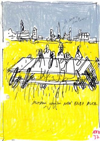 Antonio Scarponi, Altari Umili, notebook sketch, 2015.