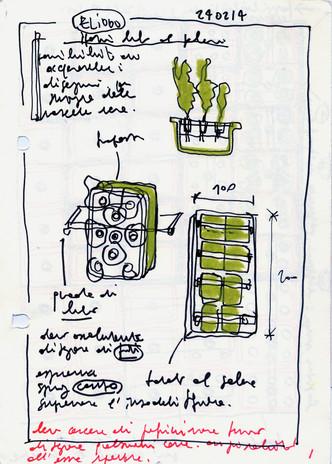 Antonio Scarponi / Conceptual Devices, Orto Perpetuo, sketch study, 2014.