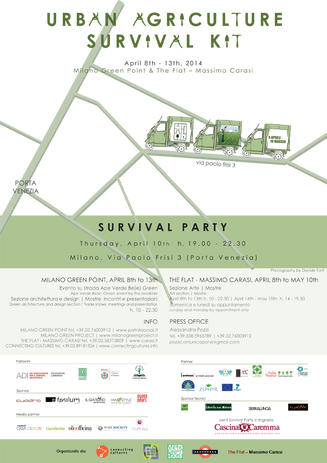 Urban Agriculture Survival Kit, poster, 2014.