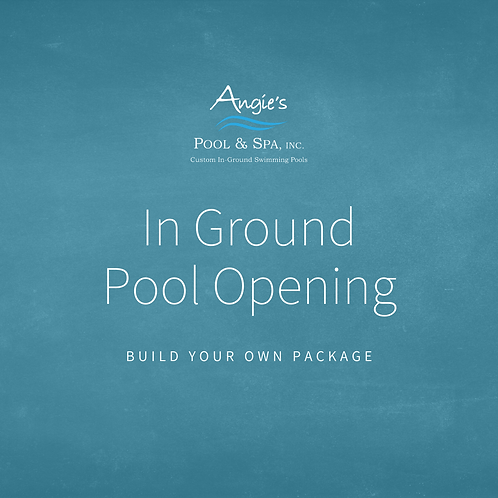 In Ground Pool Opening