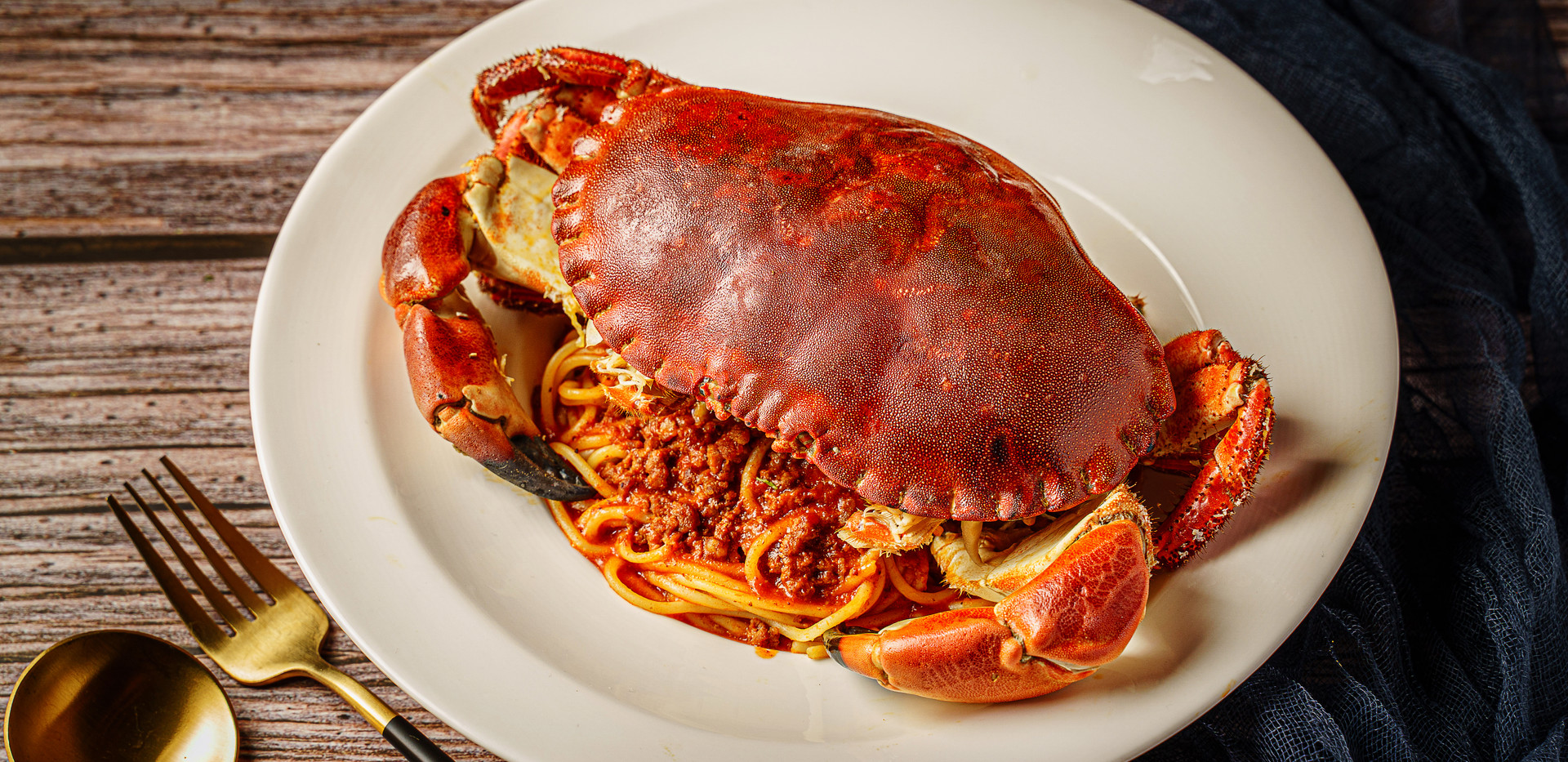 Brown Crab Spaghetti