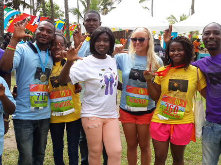 Race for a Cure with the Butterfly Walkers at the 2017 AIM Ghana