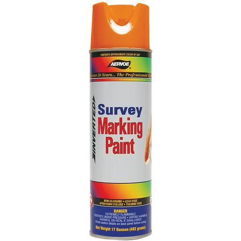 Aervoe - Inverted Survey Marking Paint /12 Cans (Case)