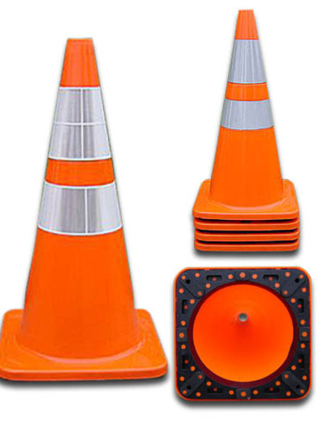 "4028PVC6CC4CC(VSB) - 28"" Traffic Cone"