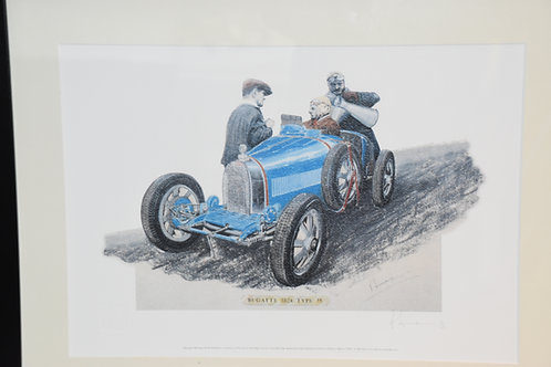 Limited Edition print of Type 35 Bugatti