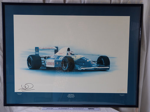 Signed print by Nigel Mansell