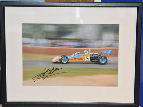 Photograph of Henry Surtees in TS010 Formula 2 car