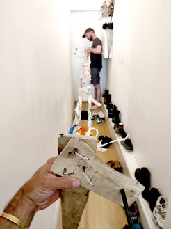 rope making in the corridor