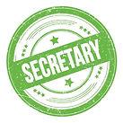 secretary-text-green-round-grungy-textur