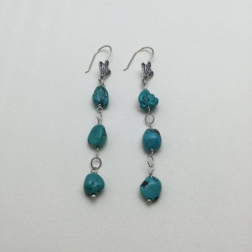 Triple Marigold Earrings