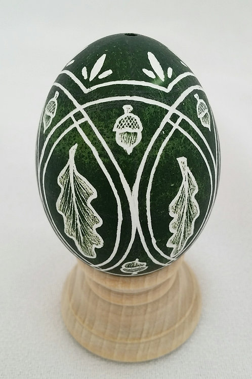 Divided Acorn and Oak Leaf Egg