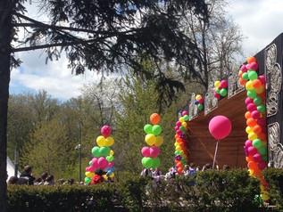 Проведение мастер-класса  «Разноцветная палитра» на фестивале «Весна в Бутырском», а также участие х
